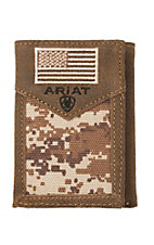 Ariat Patriot Digital Camo Flag Trifold Wallet