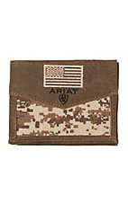 Ariat Patriot Digital Camo Flag Bifold Wallet