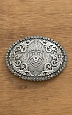 Ariat Silver Filigree with Ariat Logo Oval Buckle