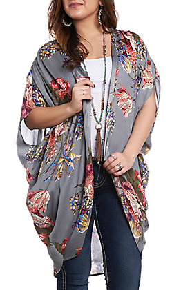 UMGEE Women's Floral Print Sheer Kimono