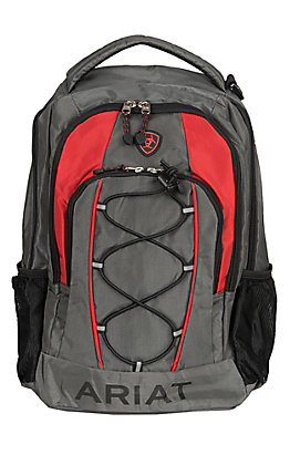 Ariat Lace Front Charcoal and Red Backpack