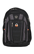 Ariat Black and Charcoal Executive Backpack