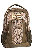 Ariat Lace Front Patriot Camo Backpack