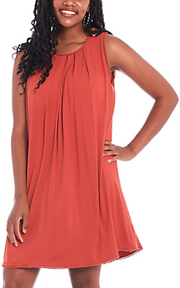 Umgee Women's Burnt Orange Sleeveless Dress