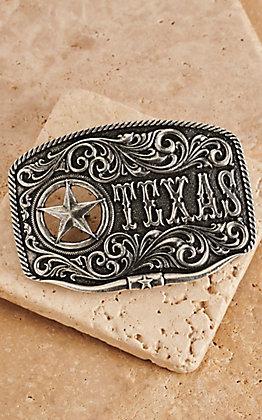 Montana Silversmiths Texas Star Longhorn Classic Attitude Buckle