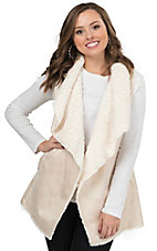 Montana Clothing Co. Women's Cream with Faux Fur Lining Vest