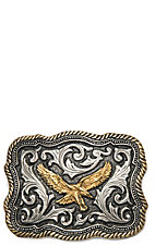 Montana Silversmiths Classic Impressions Two Tone Twisted Rope & Pinpoints w/ Soaring Eagle Attitude Buckle
