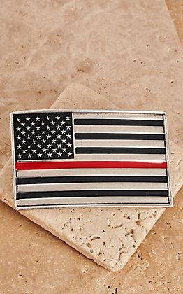 Montana Silversmiths Silver Antiqued American Flag Attitude Belt Buckle