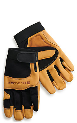Carhartt Men's Black Barley Dex II High Dexterity Work Gloves