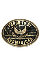 Montana Silversmiths Heritage Proud to be an American Attitude Buckle