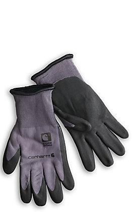 Carhartt Men's Grey Thermal WB Nitrile Grip Work Gloves