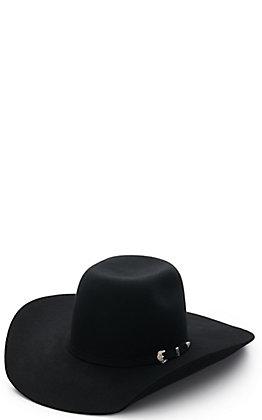 Ariat Kids' Black Punchy Bull Rider Wool Cowboy Hat