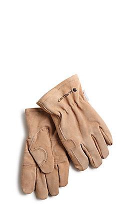 Carhartt Men's Brown Pile Fencer Work Gloves