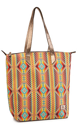Ariat Sand and Gold Southwest Print Tote