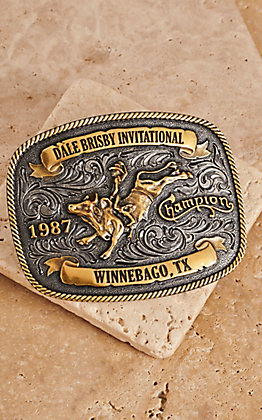 Montana Silversmiths Dale Brisby Invitational 1987 Trophy Buckle