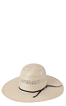 American Hat Co. Two-Tone Vented Open Crown Shantung Straw Cowboy Hat