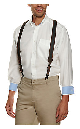 Ariat Men's Black Inlay Gallus Suspenders