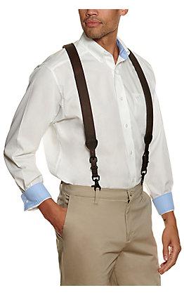 Ariat Men's Gallas Pebbled Dark Brown Suspenders