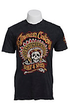 Afflicition Men's Black Comanche Embroidered S/S Tee