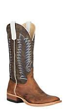 Anderson Bean Men's Saddle Elk Butt with Mocha Monet Wide Square Toe Western Boots