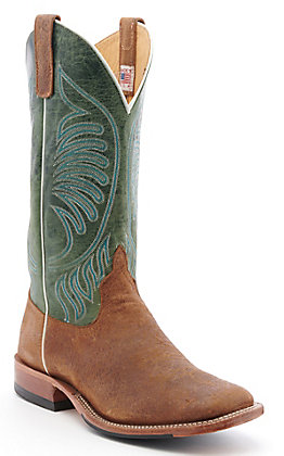 Anderson Bean Men's Havana Boar Rust and Moss Maddog Wide Square Toe Western Boot