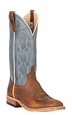 Anderson Bean Men's Cavender's Exclusive Saddle Elk w/ Ocean Upper Wide Square Toe Boots