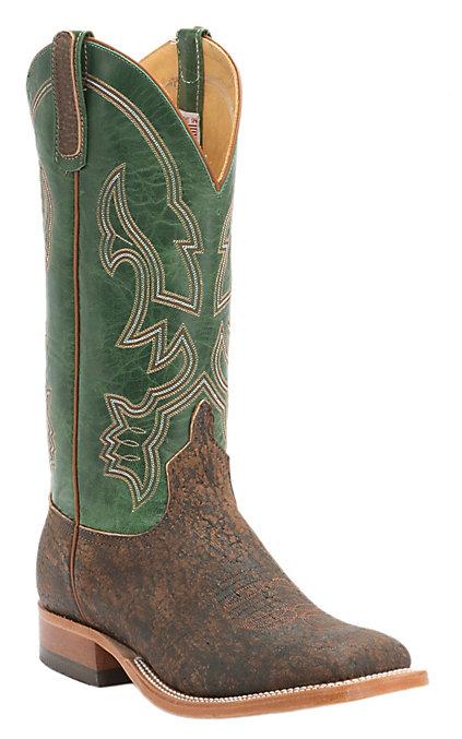 711f75eaf50 Anderson Bean Men's Rust Safari Giraffe with Emerald Top Square Toe Western  Boots