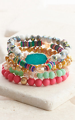 Ashlyn Rose Boho Brights Beaded Bracelet Set