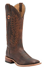 Anderson Bean Horse Power Men's Chocolate Goat with OSU Logo Double Welt Square Toe Western Boots
