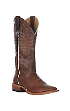Horse Power Men's Chocolate Texas A&M Goat Wide Square Toe Western Boots