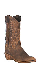 Abilene Boot Company Men's Traditional Western Genuine American Bison R-Toe Boot