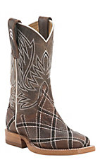 Anderson Bean Kids Moka Sabotage Patchwork Square Toe Western Boots