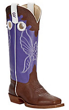 XEMAnderson Bean Kids Toast Bison w/ Grape Soda Top Square Toe Boots
