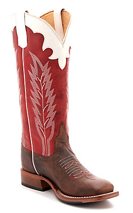 Red And Brown Cowgirl Boots