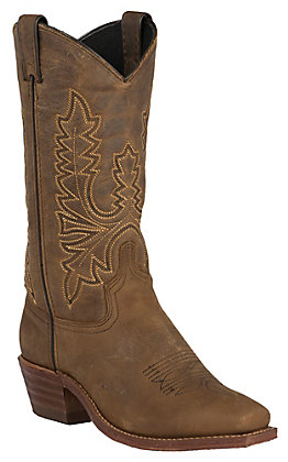 Abilene Women's Olive Brown Vintage Punchy Toe Western Boots