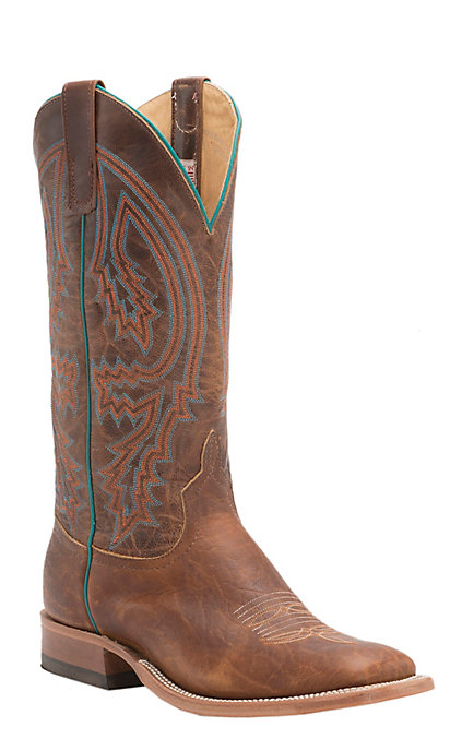 d671ab8662d Anderson Bean Men's Tobacco Yeti and Brass Explosion Square Toe Western  Boots