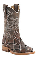 Anderson Bean Youth Moka Sabotage Patchwork Square Toe Western Boots