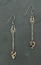 Augus Antiqued Silver & Gold Arrow Dangle Earrings