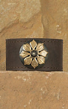 Augus Leather Cuff with Flower Concho