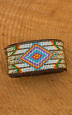 Augus Beaded Leather Cuff