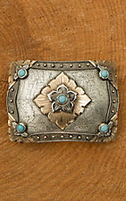 Augus Flower with Turquoise Buckle