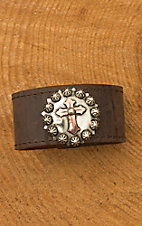 Augus Leather Cuff with Silver Concho