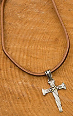 Augus Cross Leather Necklace