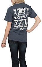 Girlie Girl Originals Women's Heather Navy Accent S/S T-Shirt