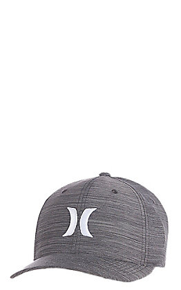 Hurley Drifit Crosshatch Dark Grey Textures FlexFit Cap