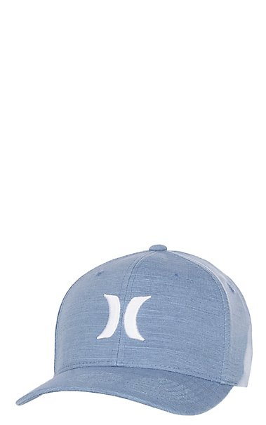 best loved e81b8 2eafb ... small medium htj02007305 6523e 46922  where to buy hot hurley one and  only blue with white flexfit cap cavenders 3d77a 82b69