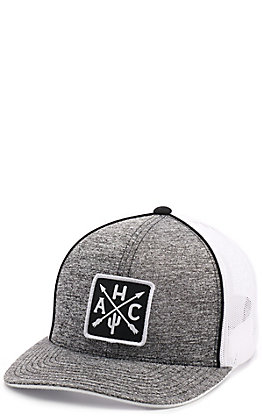 Armadillo Hat Co. Grey & White Mesh Back Cap