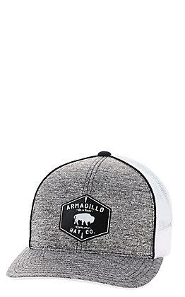 Armadillo Heat Co. Men's Heather Grey Buffalo Patch Mesh Snapback Cap