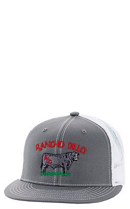 Armadillo Hat Co. Men's Grey Ranch Dillo Mesh Snapback Cap