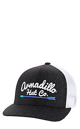 Armadillo Hat Co. Men's Dark Grey With Arrow Mesh Snapback Cap